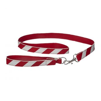 RED & WHITE LEASH AND COLLAR